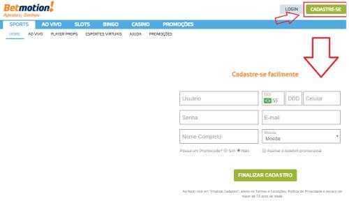 Como registrar-se em um cassino online