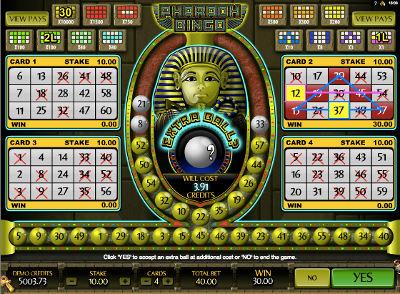 pharaos video bingo gratis