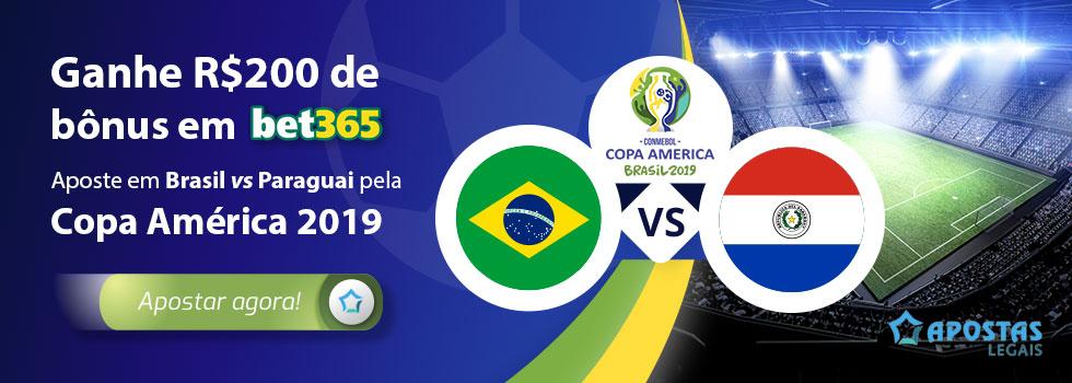 Brasil Paraguai 2019 Previsões, odds e probabilidades
