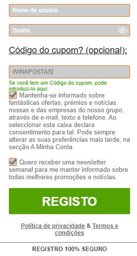 winner codigo do cupom