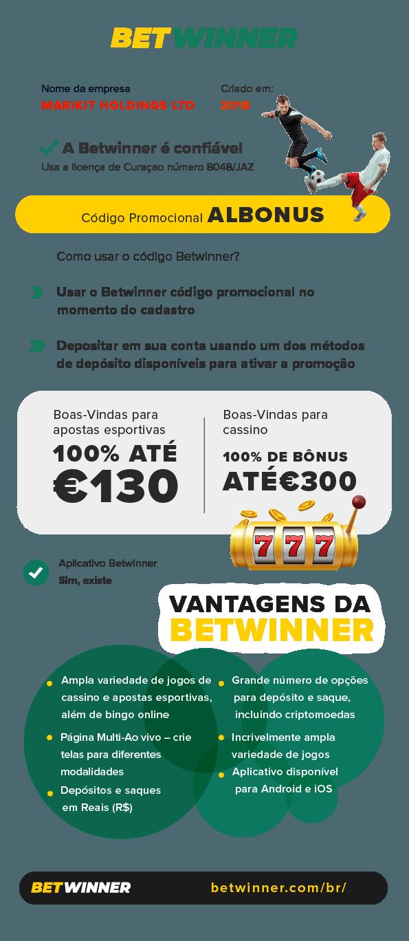 codigo promocional betwinner